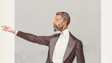 """Australia"" (Alfred Deakin) (Image plate from Vanity Fair), 1908 by Sir Leslie Ward"