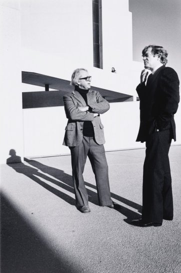Colin Madigan and Robert Hughes, Canberra, 1982 (printed 2000) by David Moore