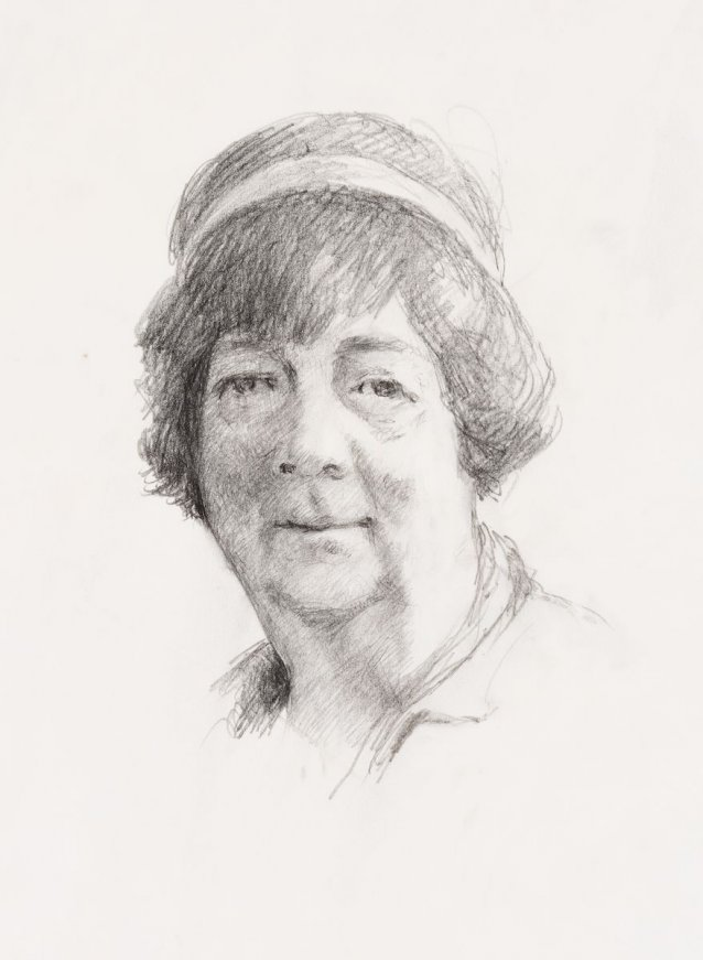 Head study for portrait of Margaret Olley