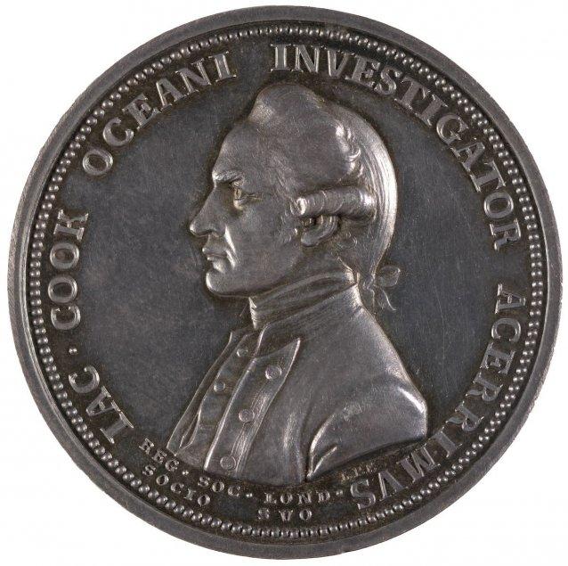 The Royal Society medal in commemoration of Captain James Cook