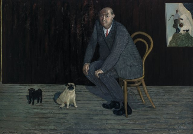 Self portrait for town and country, 1991 by William Robinson
