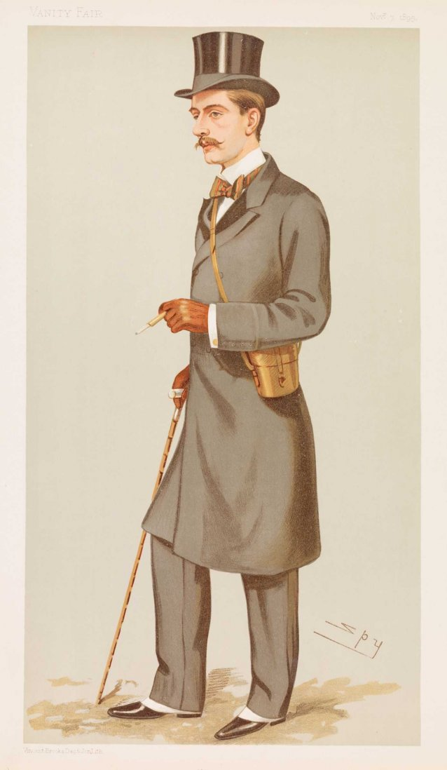 Mr Albert Frederick Calvert (Image plate from Vanity Fair)