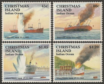 Christmas Island stamps, issued 1992