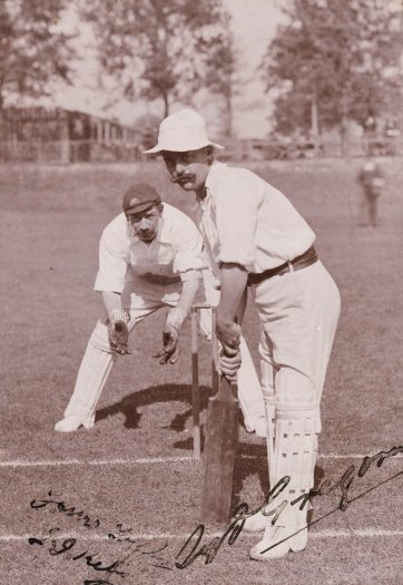 Syd Gregory (Sydney Edward Gregory, member of the 1896 Australian Cricket Team) by H Parker Rolfe