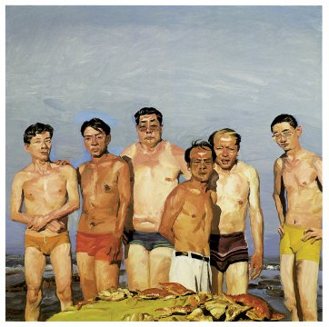 Eating, 2000 by Liu Xiaodong