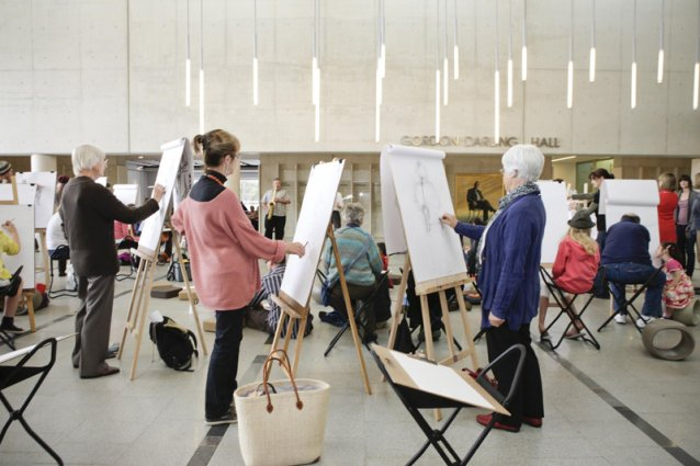 Drawing in the Gordon Darling Hall