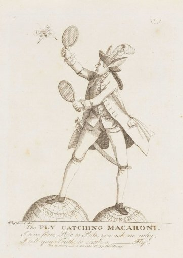 The Fly-Catching Macaroni, 1772 by Matthias Darly