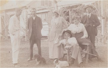 Norman, Kodak, Rose, J.F Archibald, model and John Barr, c. 1913 an unknown artist