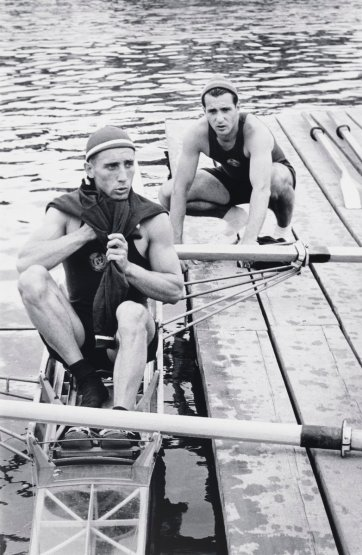 Russian oarsmen at Henley Royal Regatta, Oxfordshire, 1955 (printed 2000) David Moore