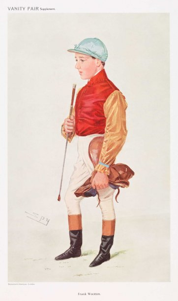 """Frank Wootton"" (Image plate from Vanity Fair), c. 1908 by Sir Leslie Ward"
