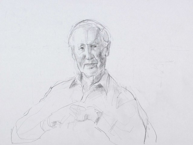 Study for portrait of Frank Fenner AC CMG MBE