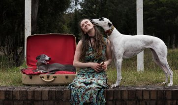 Melanie and sighthounds, 2016 by Christopher Pearce