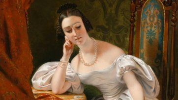Portrait of Lady Eyre Williams (Jessie Gibbon), 1833 Claude-Marie Dubufe