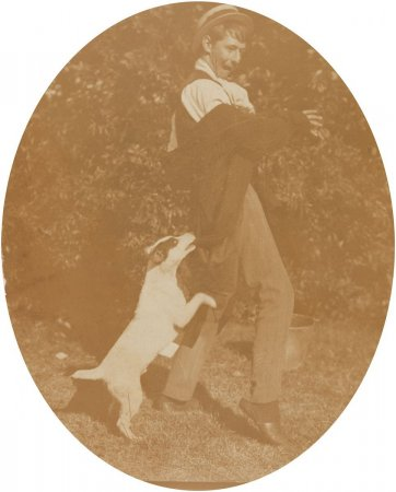 "Norman and ""Peter Ward"", c. 1906 an unknown artist"