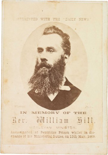 In memory of the Rev William Hill, 1869 Charles Wherrett
