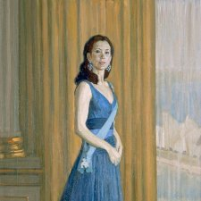 Study for commissioned portrait of HRH Crown Princess Mary of Denmark (full length study), 2005 by Jiawei Shen