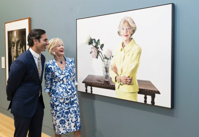 Quentin Bryce and Michael Zavros at National Portrait Gallery, 2016