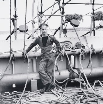 Tall-ship sailor, Torbay, Devon, c. 1954 (printed 2000) by David Moore
