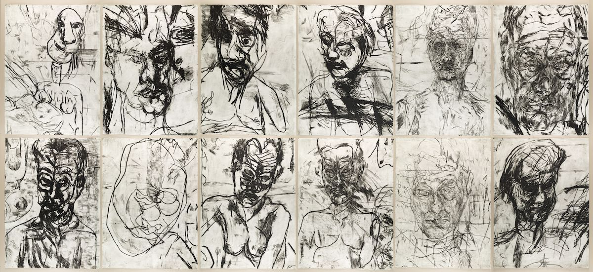 12 Untitled Self Portraits (Set 3), 1990 Mike Parr, John Loane