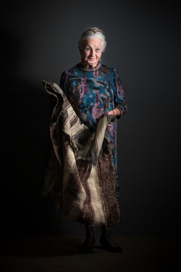 Olga and her blanket, 2015 by Katherine Griffiths