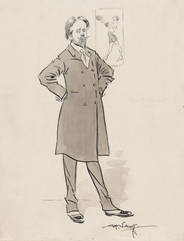 George Lambert in London, c. 1912 by Alf Vincent