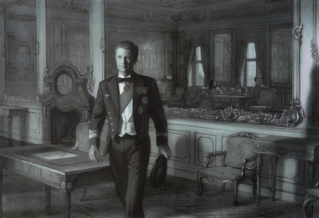 Study for portrait of HRH Crown Prince Frederik by Ralph Heimans