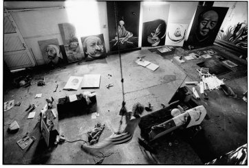 Brett Whiteley at Gas works studio, 1971 by Greg Weight