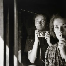 In the mirror: self portrait with Joy Hester, 1939 by Albert Tucker