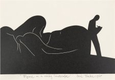 Figure in a rocky landscape, 1968 Eric Thake