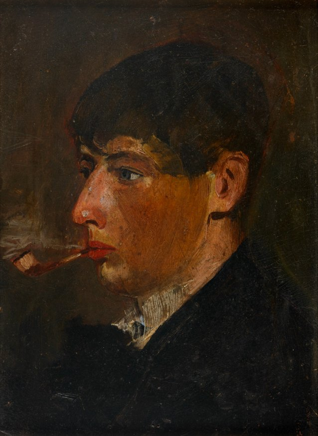 Portrait of Norman Lindsay as a student