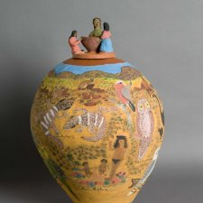 Potters' Portrait Pot, 2009 by Hermannsburg Potters