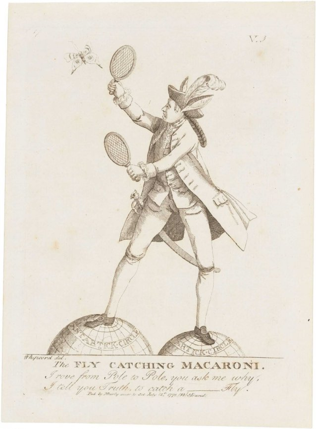 The Fly Catching Macaroni (Sir Joseph Banks)
