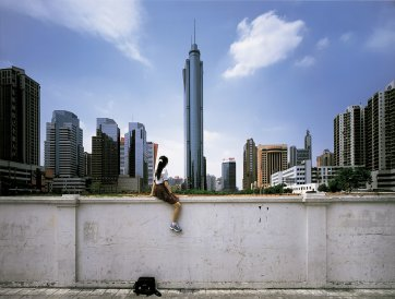 On the wall – Guangzhou (II), 2002 by Weng Fen