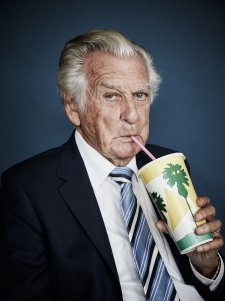 The Honourable Bob Hawke savouring a strawberry milkshake, 2017 by Harold David