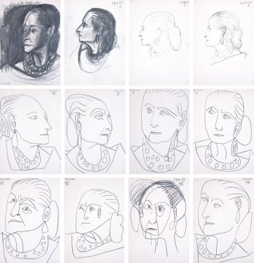 Portraits of Helena Rubinstein, 1955 by Pablo Picasso