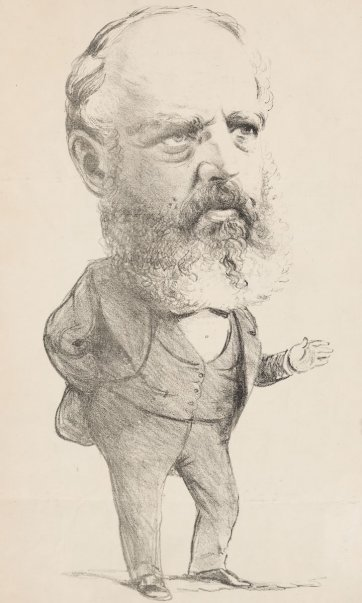 "A Premier ""The New Man"" [The Hon. George Briscoe Kerferd] from the series ""Masks and Faces"", 1874 by Tom Durkin, The Weekly Times"