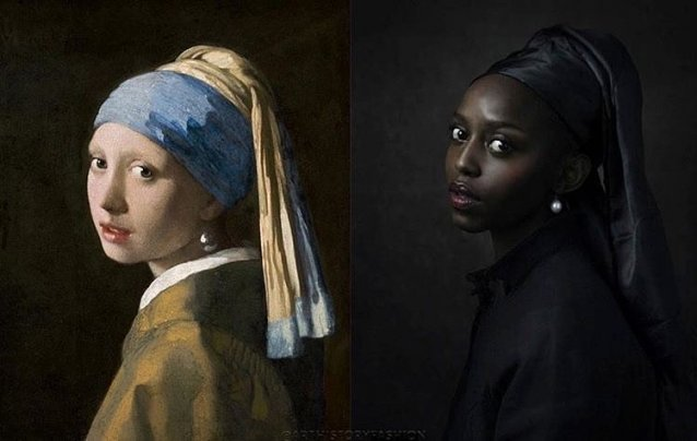 Girl with a Pearl Earring, 2020 Jenny Boot after Johannes Vermeer