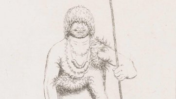Woureddy [Wurati], a wild native of Brune Island, 1835 Benjamin Duterrau