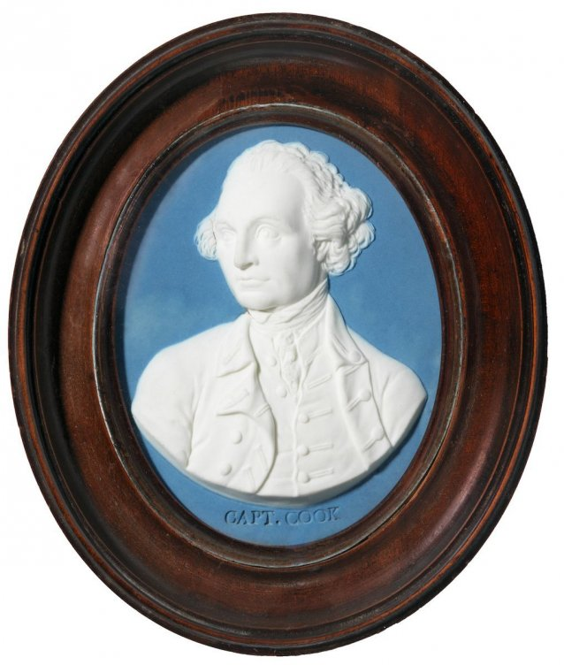 Jasperware medallion of Captain James Cook
