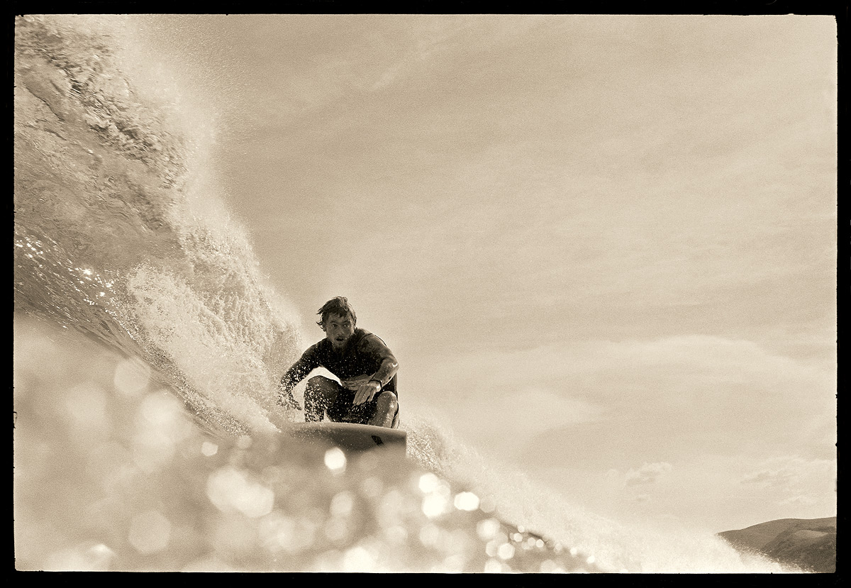 Ted at Bells Beach, 1971 by John Witzig