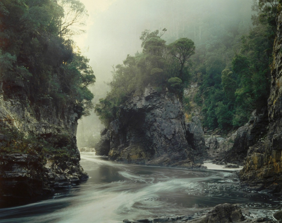 Rock Island Bend. Franklin River, South West Tasmania, 1979 by Peter Dombrovskis