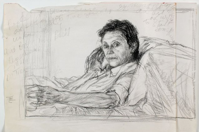 Study for portrait of Helen Garner