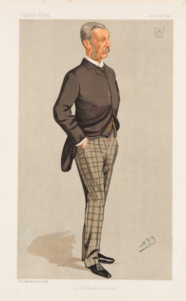 'A Postmaster General'  (Sir James Fergusson) (Image plate from Vanity Fair), 1892 by Sir Leslie Ward