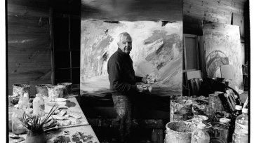 Arthur Boyd with horse hair brush - Bundanon 1993 Greg Weight