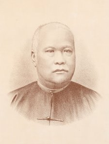 Lowe Kong Meng, c.1887 by Ludwig Lang after Johnstone O'Shannessy & Co