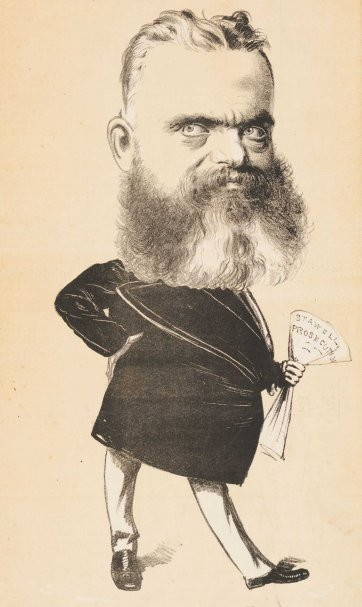 "A Politician. ""He is a Terror to Dummies' [Sir William Foster Stawell, Chief Justice of Victoria] from the series ""Masks and Faces"", 1873 Tom Durkin, The Weekly Times"