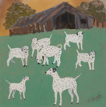 Untitled (7 Dalmatians) by Violet Frisby