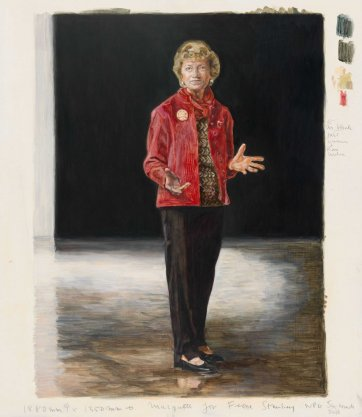Study for painting commission portrait of Fiona Stanley, 2010 Mary Moore