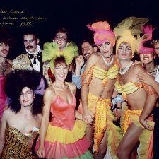 Graham Sylvester's crowd, Sydney Gay & Lesbian Mardi Gras, 1983 William Yang