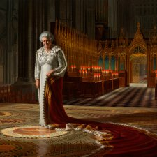 The Coronation Theatre, Westminster Abbey: A Portrait of Her Majesty Queen Elizabeth II, 2012 by Ralph Heimans